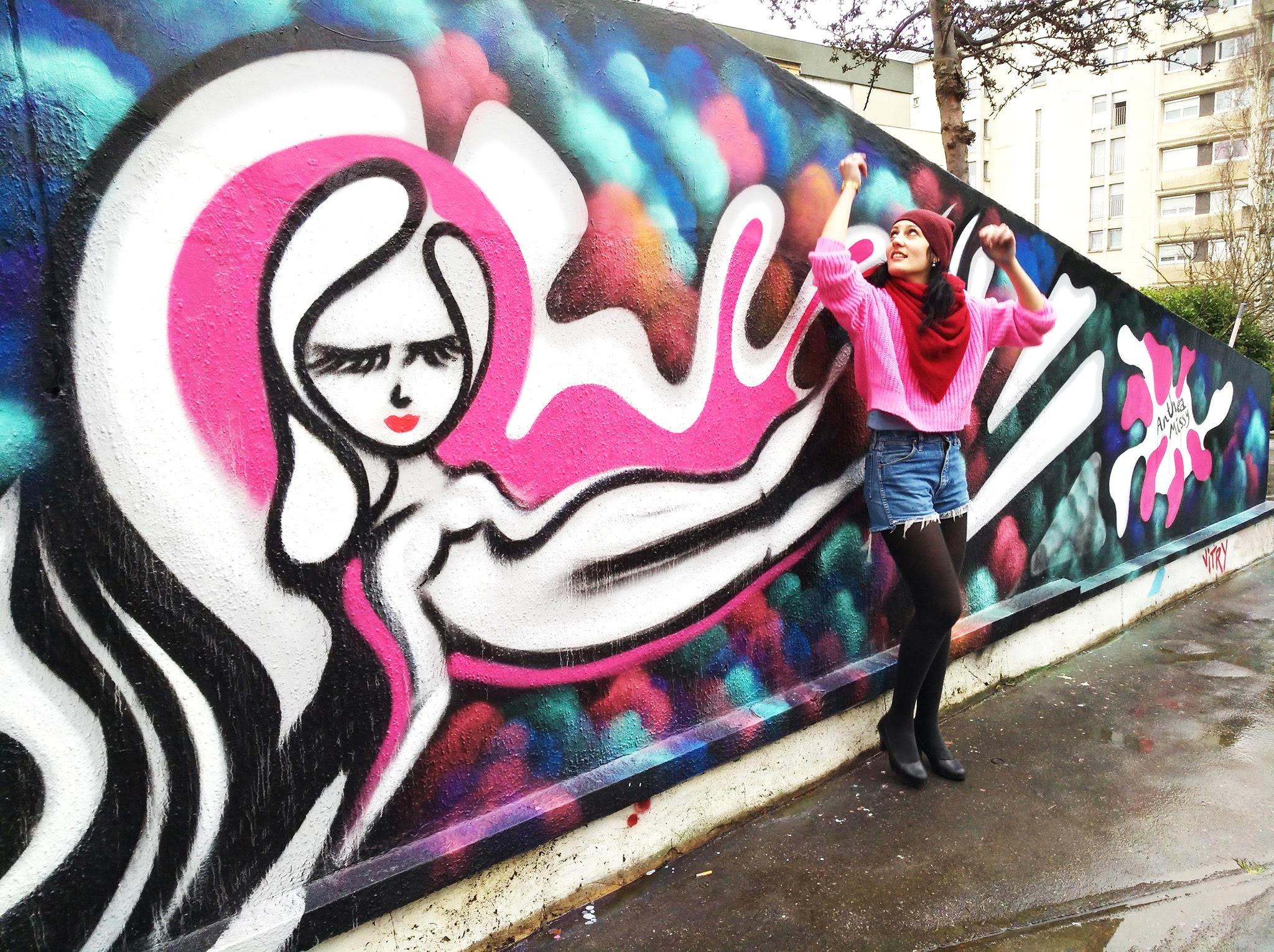 anthea missy vitry street art graffiti 8 mars women day femme journée urbain graffiti 2 women street artist mural