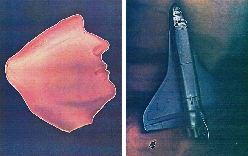 Lesley Schiff, Man in Profile, 1981, Rocket Ship and Soldier, 1981