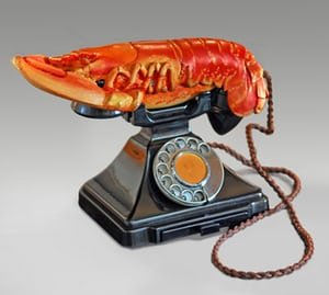 Lobster Telephone (red), 1938, by Salvador Dalí and Edward James.