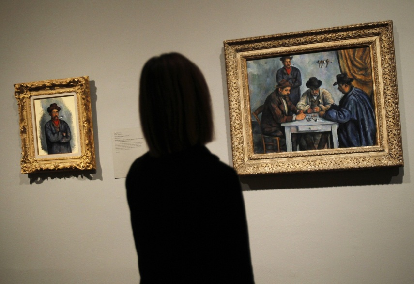 Looking at The Card Players by Paul Cezanne
