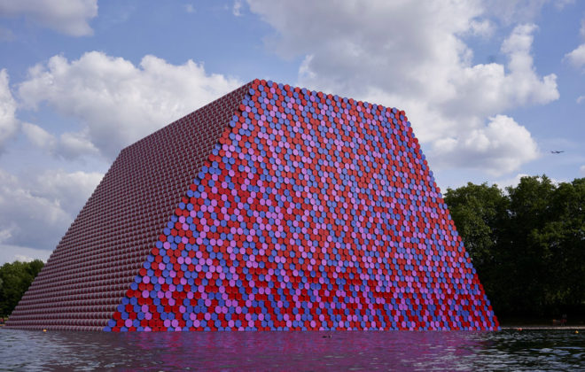 Christo's Latest Work Weighs 650 Tons. And It Floats.
