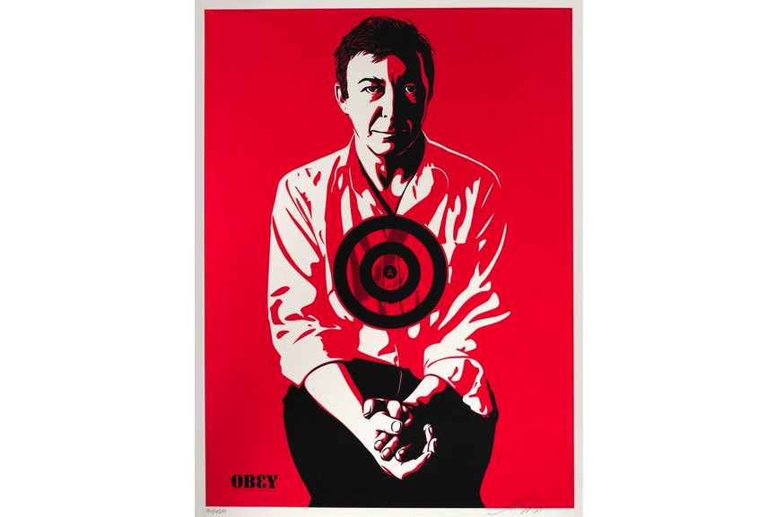 Shepard Fairey - Jasper Johns (Red), 2009