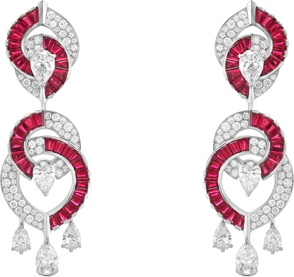 The Kiss At The Balcony Earrings. Photo courtesy Van Cleef and Arpels.