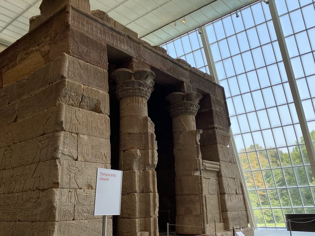 The closed Temple of Dendur at the Metropolitan Museum of Art. Photo: Zachary Small.