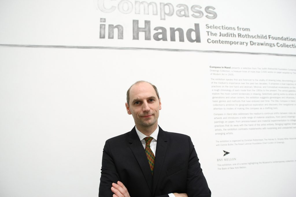 Curator Christian Rattemeyer. Photo by Neilson Barnard/Getty Images.