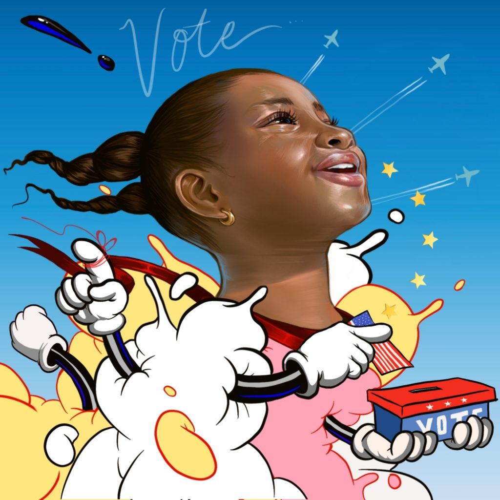 Kayla Mahaffey for When We All Vote.