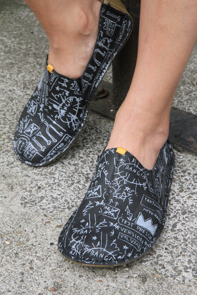 Vivobarefoot to Sell Shoes Hand-Painted with Basquiat's Most Iconic Designs