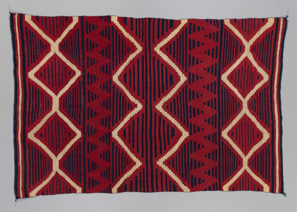 Serape, Diné/Navajo (c. 1840–50). Photo courtesy of the Metropolitan Museum of Art.