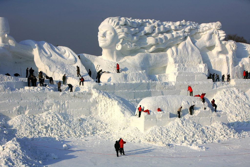 """Workers work to make snow sculpture <em>Romantic Feelings</em> at the 20th International Snow Sculpture Art Expo on December 17, 2007 in Harbin of Heilongjiang Province, China. Photo by China Photos/Getty Images."""" width=""""1024″ height=""""683″ srcset=""""https://www.antheamissy.com/wp-content/uploads/2020/11/1605769927_319_24-Astounding-Art-Facts-From-the-Guinness-Book-of-World.jpg 1024w, https://news.artnet.com/app/news-upload/2020/10/GettyImages-78536147-300×200.jpg 300w, https://news.artnet.com/app/news-upload/2020/10/GettyImages-78536147-50×33.jpg 50w"""" sizes=""""(max-width: 1024px) 100vw, 1024px""""/></p> <p class="""