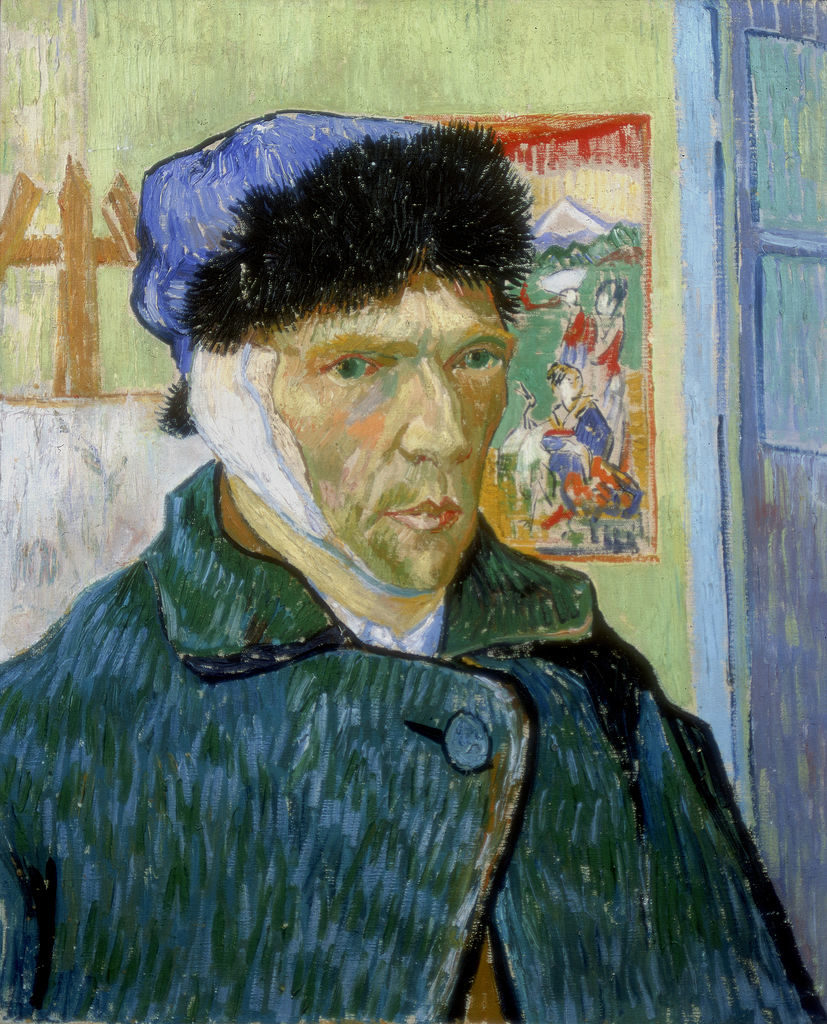 Vincent van Gogh, Self-Portrait with Bandaged Ear (1889). Photo by Art Media/Print Collector/Getty Images.