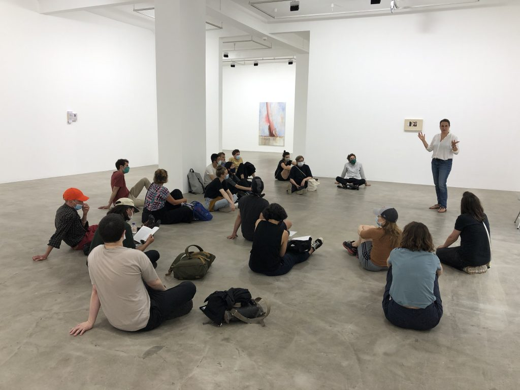 BPA group meeting in Monika Baer's exhibition at nbk, Berlin (2020).