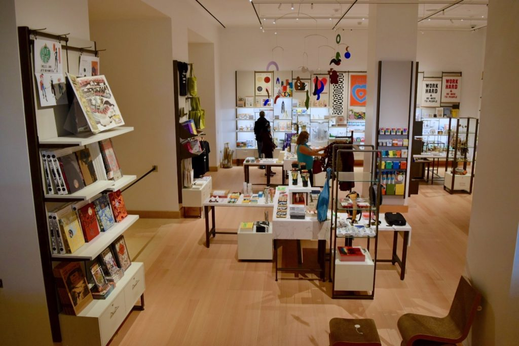 Gift shop in the new first floor galleries at the Philadelphia Museum of Art. Photo by Ben Davis.