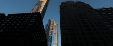 The sun rises on 111 West 57th Street also known as it is under construction on November 2, 2019, in New York City. (Photo by Gary Hershorn/Getty Images)